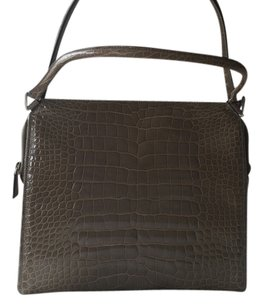 Prada Genuine Croco Genuine Crocodile Olive/grey Handbags Avio Croco Shoulder Bag