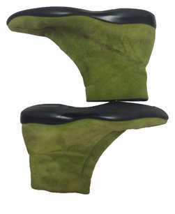 Prada Suede Leather Green Boots
