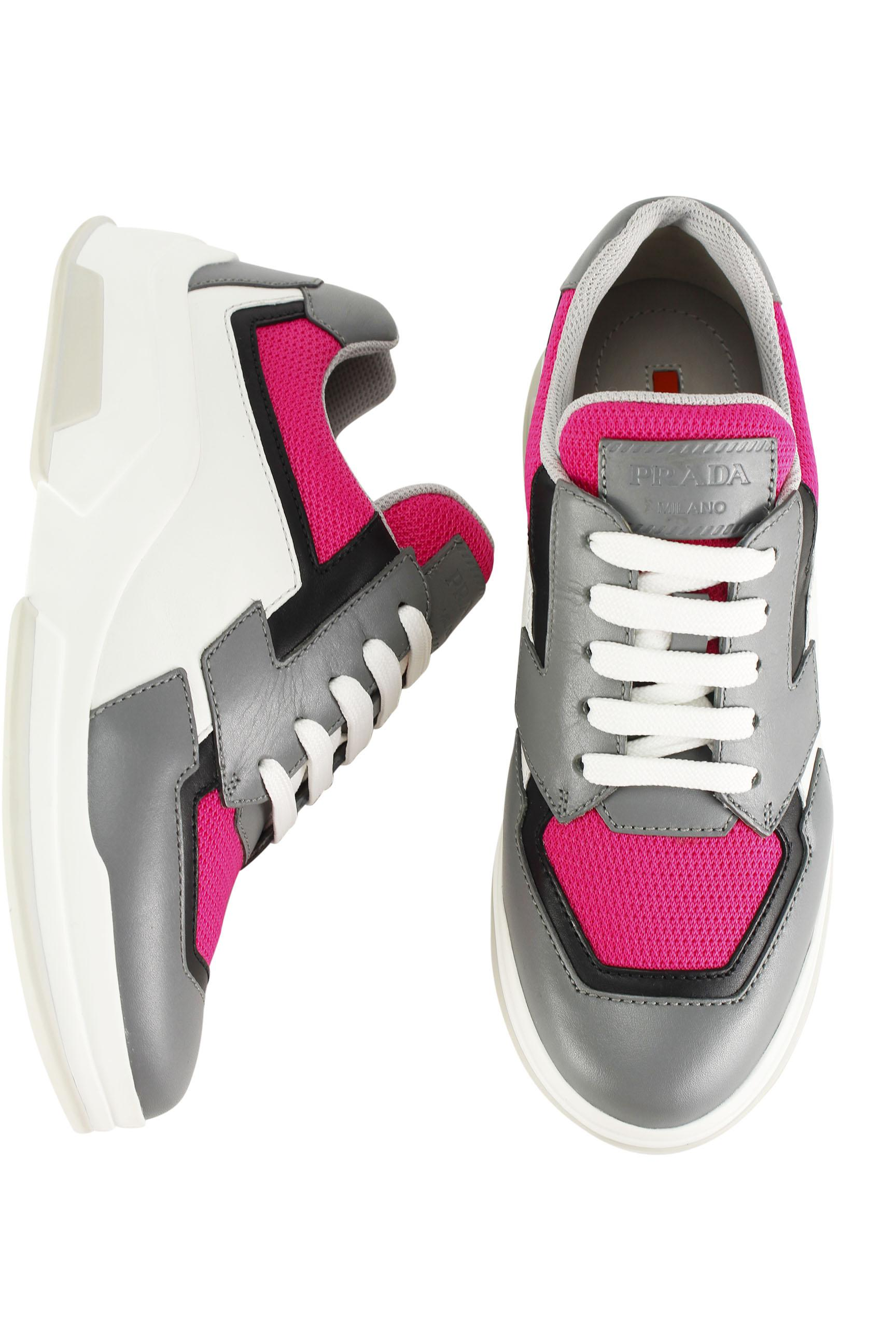 Prada Womens Fashion Sneakers 3e596430rm Pink Athletic Shoes On Sale 56% Off | Athletic On Sale