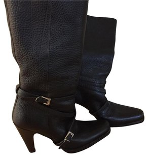 Prada Leather Moto Black Boots