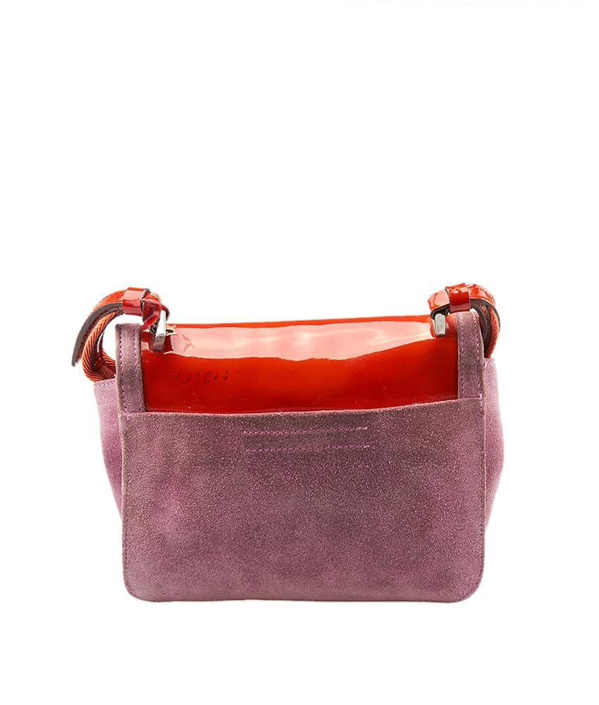 e12dd67e3a92fb ... sale prada light orange shoulder purple red suede patent leather cross  body bag tradesy 6d499 64df3
