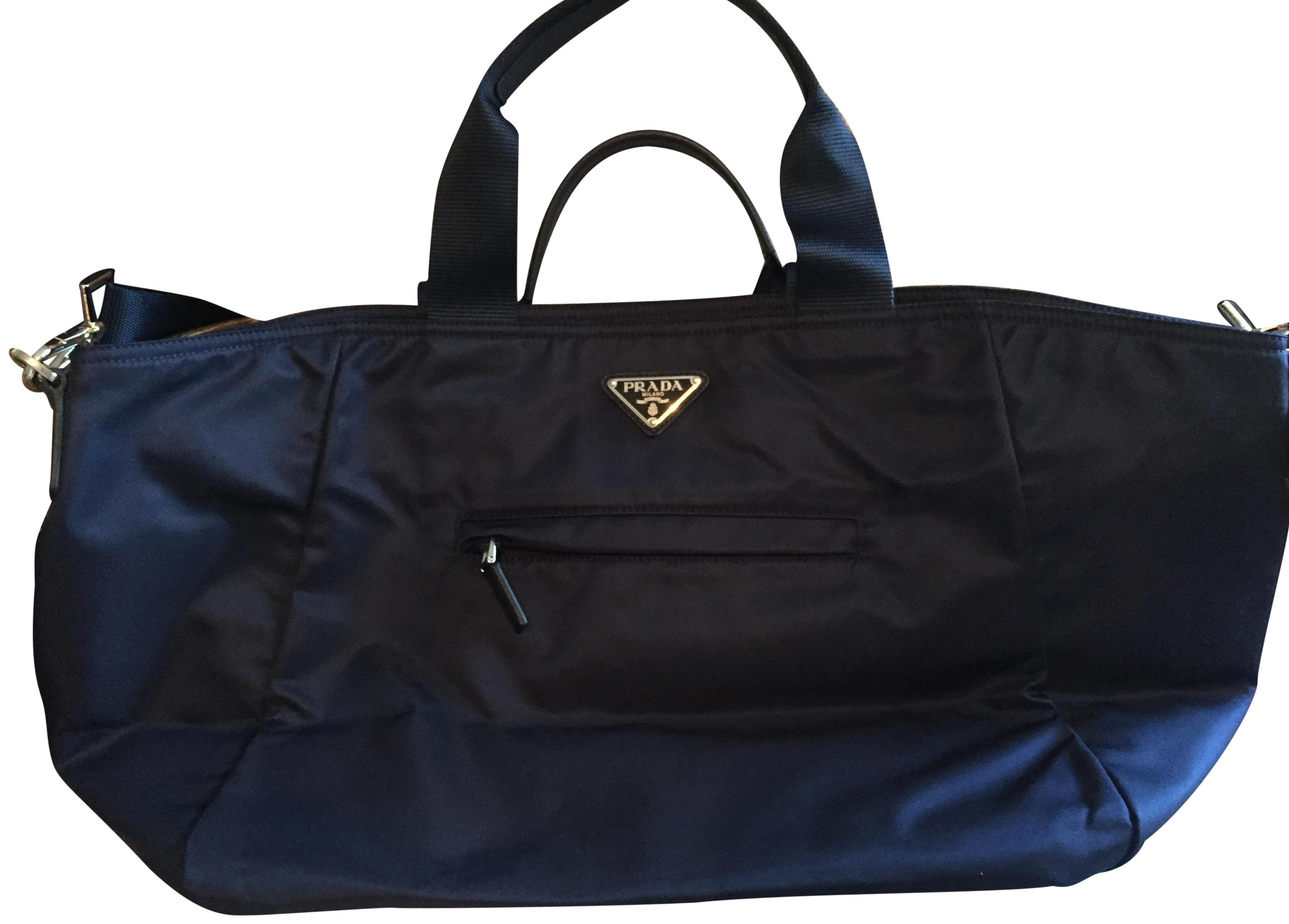 ddea34b563de ... store prada baltic blue travel bag 77246 4abb0