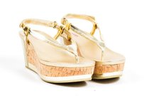 Prada Sport Metallic Gold Sandals