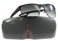 Prada Prada Men Black DGO-0A7 LJ Silver 58mm Sunglasses