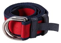 Prada * Prada Red Bicolor Nylon Logo Belt 42/105