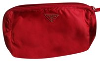 Prada Prada Red Nylon Pouch Cosmetic Bag
