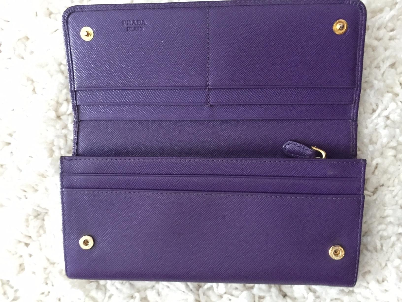 9c57bcc2bc67 ... buy prada purple box saffiano vivid leather long travel w wallet  tradesy 78d92 b1cce