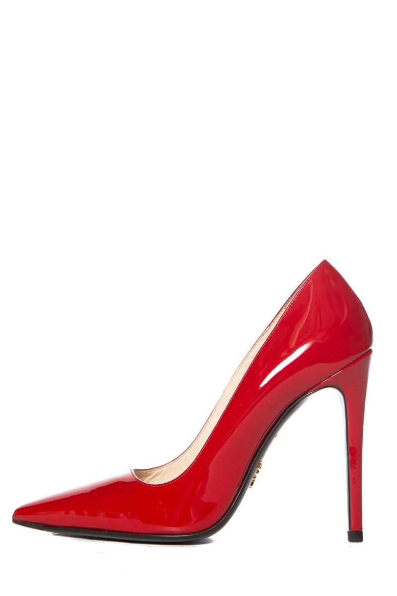 ae84a85c821 Prada Red Patent Leather Pointed Toe Pumps Size EU EU EU 34.5 (Approx. US  4.5) Regular (M