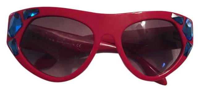 e6463d8b2 good prada prada red sunglasses with blue crystals 272ac f6f0e