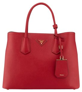 Prada Saffiano Tote in Red