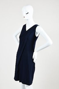 Prada Navy Crepe Satin Dress