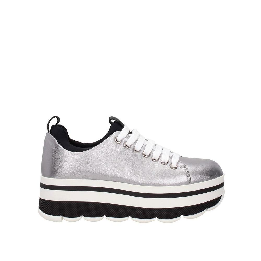 cb00fae703 Prada Silver Leather Sneakers Sneakers Size EU 37 (Approx. (Approx. (Approx