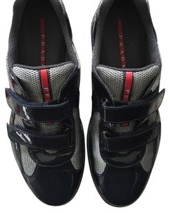 Prada Sneakers Velcro Navy Athletic