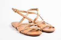 Prada Leather Strappy Tan Sandals