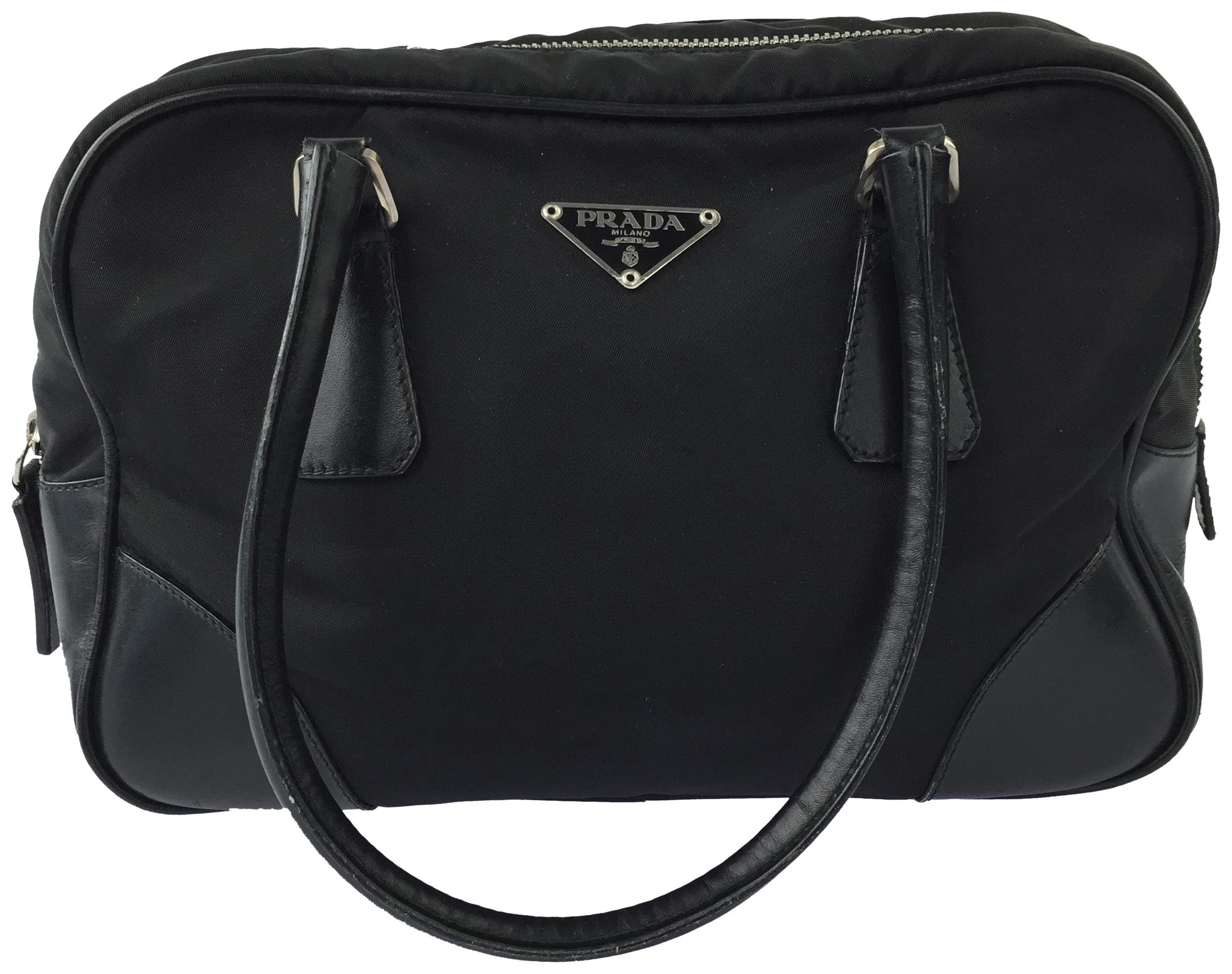 988f3bda98 ... sweden prada vela logo nylon tote satchel in black 355c0 cd1d6