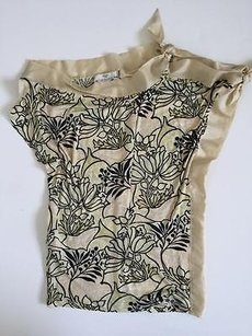 Prada Womens Floral Top Multi-Color