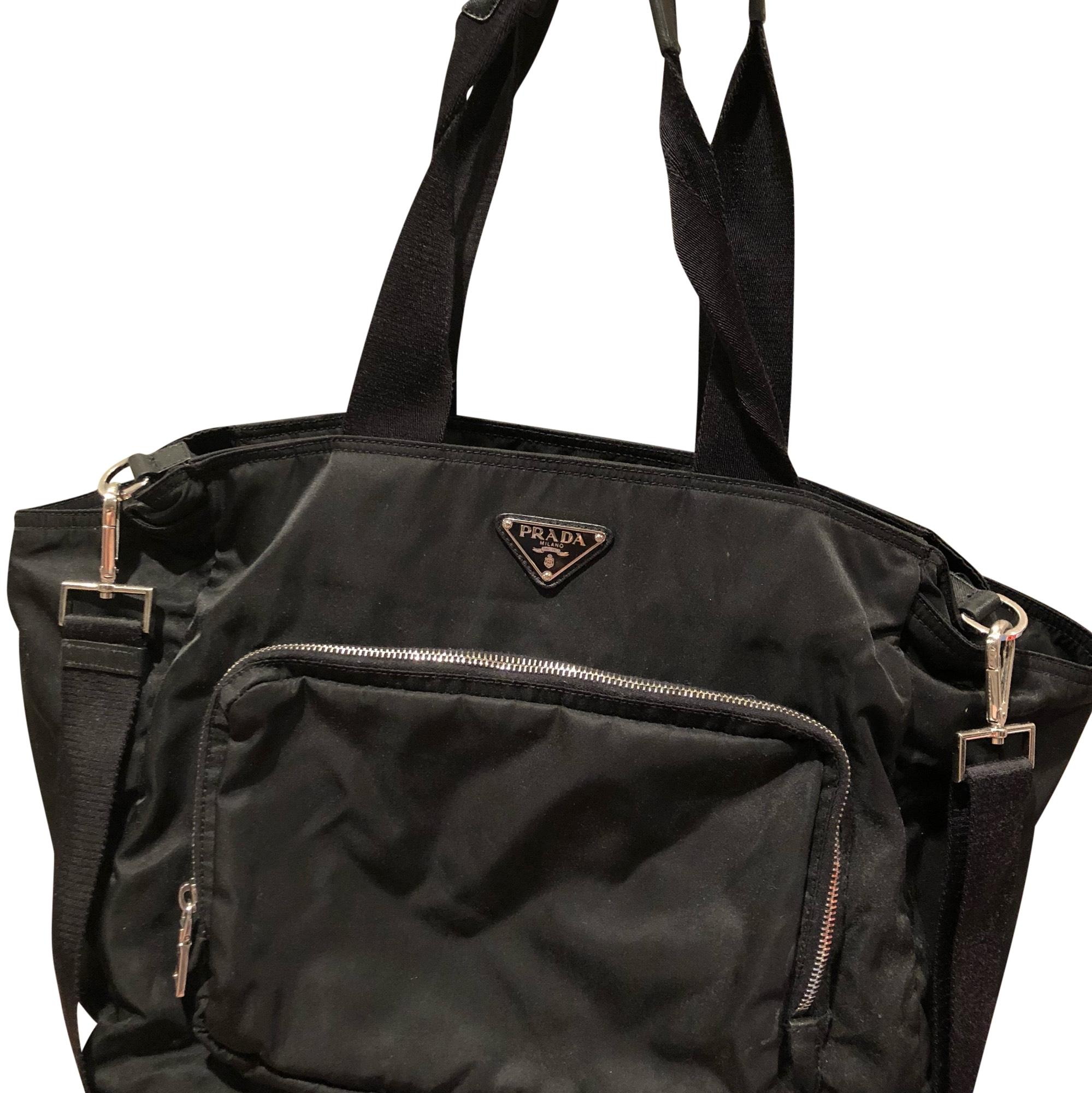 3eeeacf42309 ... closeout prada vela leather and nylon diaper bag tradesy c2d67 d3809