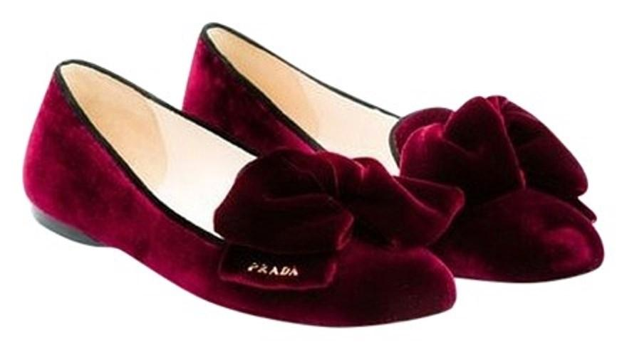 free shipping reliable Prada Velvet Round-Toe Flats clearance fast delivery g0UmThc