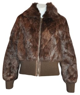 Private Collection Brown Leather Jacket