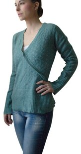 Promod Knit Knitted Turquoise Teal Sweater