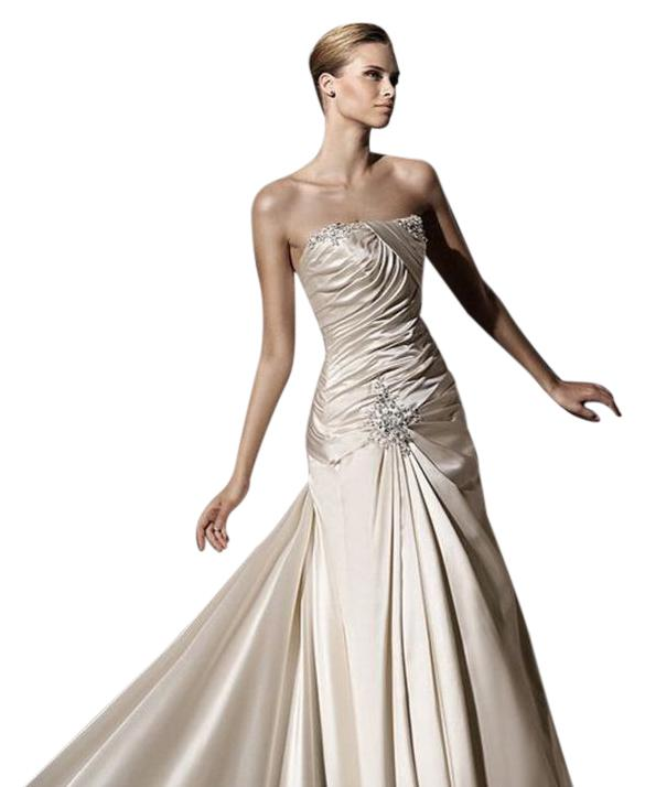 Silver Satin Mermaid Dress