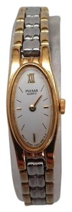 Pulsar Pulsar Quartz Ladies Gold And Silver Watch Needs Battery Or Repair