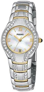 Pulsar Pulsar Crystal Mother-of-pearl Two-tone Steel Ladies Watch Pxq534
