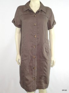 Pure Collection short dress Brown Linen on Tradesy