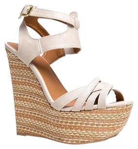 Qupid Beige Wedges