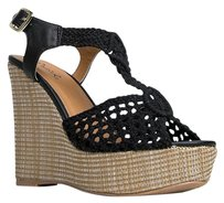 Qupid Black Wedges