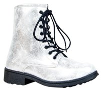 Qupid Silver Boots