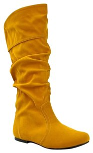 Qupid Yellow Boots