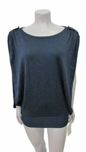 Rachel Roy Rachel Ink Stain Friendship Macys Open Sides Top Blue