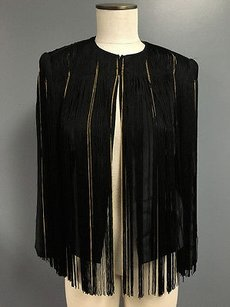 Rachel Zoe Gold Silk Black Jacket