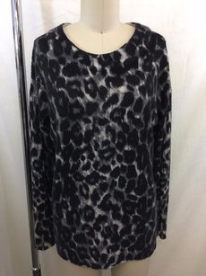 Rachel Zoe Black Gray Leopard Sweater