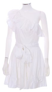 Rachel Zoe short dress White Ruffle One Shoulder Gathered on Tradesy