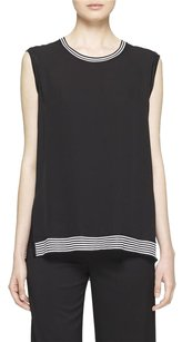 Rag & Bone Anita Sleeveles Tank Silk Top Black