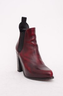 Rag & Bone Burgundy Stanton Black Leather Point Toe Ankle Chelsea 838 Red Boots