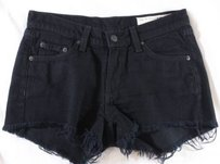 Rag & Bone Blogger On The Go Cut Off Shorts Black