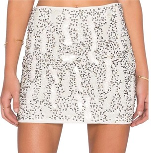 RAGA Revolve Asos Nasty Gal Mini Skirt white silver