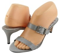 RAGAZZA Carmel Silk Womens Designer Open Toe Evening Sandals Silver Platforms