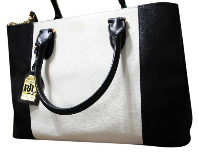 Ralph Lauren Black Label  Lauren Newbury Double Zip Satchel
