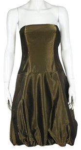 Ralph Lauren Black Label Womens Metallic Party Above Knee Shea Dress