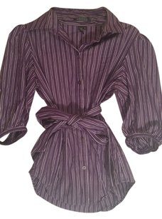 Ralph Lauren Button Down Shirt purple/black/white