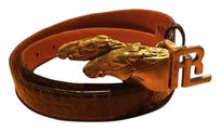 Ralph Lauren Collection Ralph Lauren collection charging equestrian alligator belt new 26-28