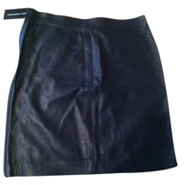 Ralph Lauren Leather Mini Skirt navy blue