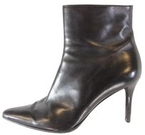 Ralph Lauren Leather Pointy Toes Black Boots