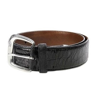 Ralph Lauren Ralph Lauren Black Alligator Sterling Silver Buckle Belt Size 30