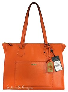 Ralph Lauren Satchel in Kumquat Orange