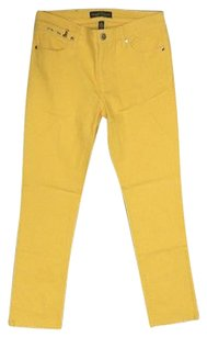 Ralph Lauren Lauren Co Yellow W Pockets Cotton Blend Sma10247 Straight Leg Jeans
